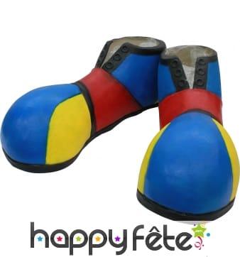 Chaussures de clown bleues pour adulte
