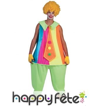 Combinaison de clown coloré pour adulte