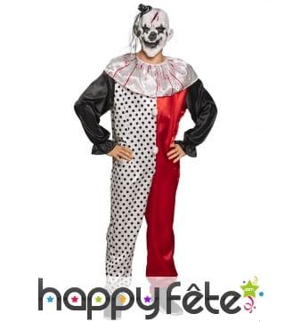 Combinaison de clown effrayant tâché de sang
