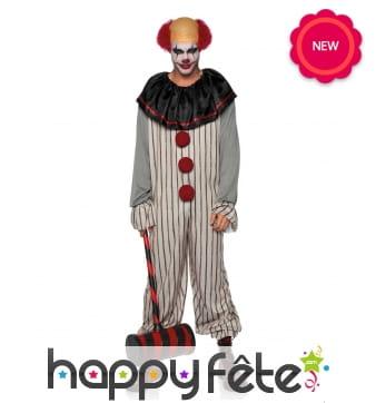 Combinaison de clown tueur pour homme adulte