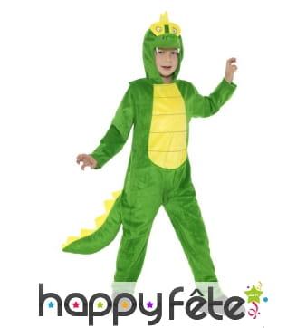 Combinaison de crocodile vert pour enfant