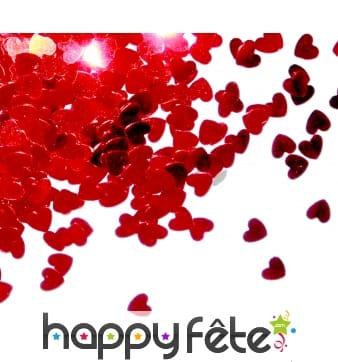 Confettis de coeurs rouges