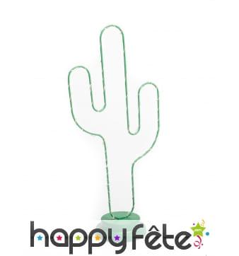 Contour de cactus vert lumineux de 40 cm