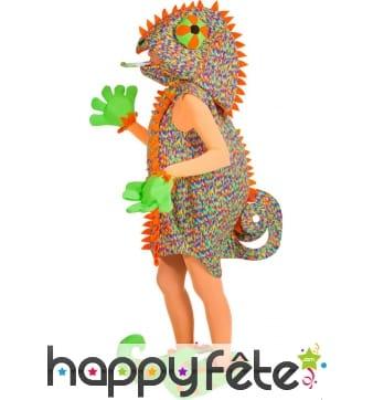 Costume de caméléon multicolore pour femme