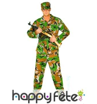 Costume de camouflage homme