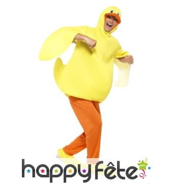 Costume de canard jaune