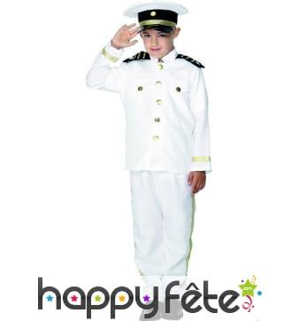 Costume de capitaine enfant