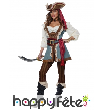 Costume de capitaine pirate pour femme