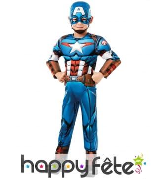 Costume de Captain America musclé pour enfant