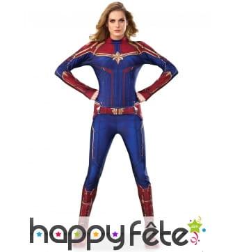 Costume de Captain Marvel pour femme, luxe