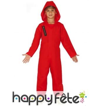 Costume de Casa de papel pour enfant