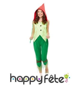 Costume de champignon élégant pour femme