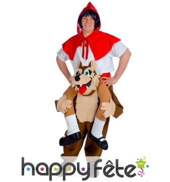 Costume de chaperon à dos de loup