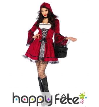Costume de chaperon gothique pour adulte