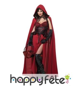 Costume de chaperon rouge pour adulte