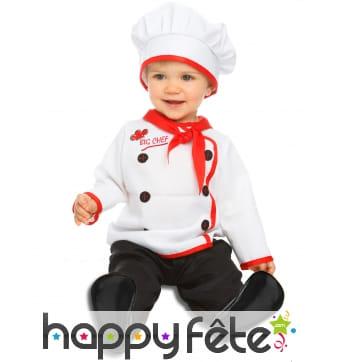 Costume de chef cuisto pour bébé