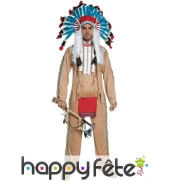 Costume de chef indien beige