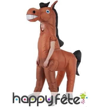 Costume de cheval géant gonflable pour enfant