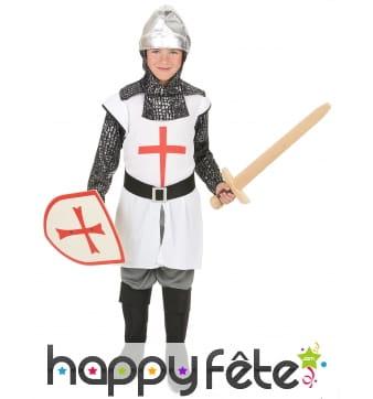 Costume de chevalier croisé pour enfant