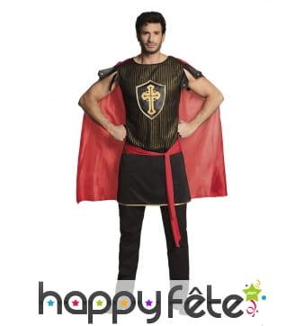 Costume de chevalier médiéval avec cape pour homme