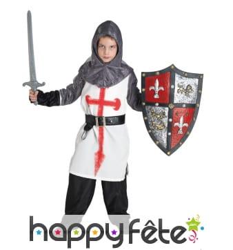 Costume de chevalier templier pour enfant