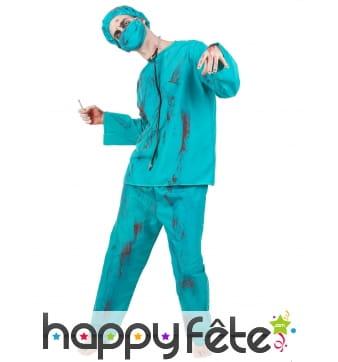 Costume de chirurgien zombie pour adulte