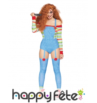 Costume de Chucky sexy pour femme, deluxe