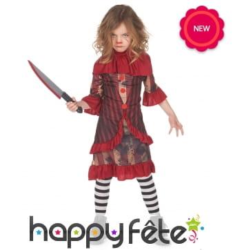 Costume de clown d'Halloween pour fille