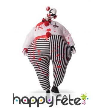 Costume de Clown ensanglanté gonflable