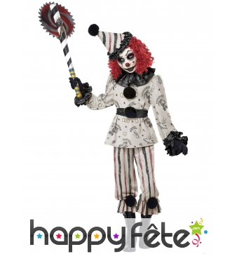 Costume de clown hanté pour enfant