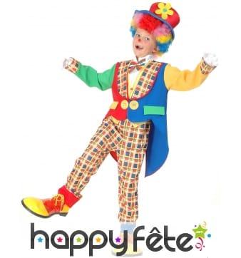 Costume de clown multicolore élégant pour enfant