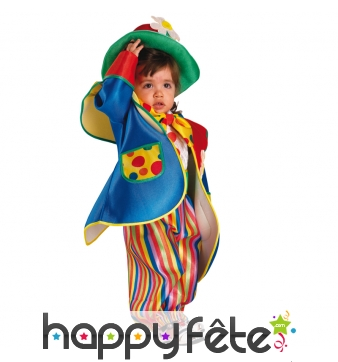 Costume de clown multicolore pour bébé