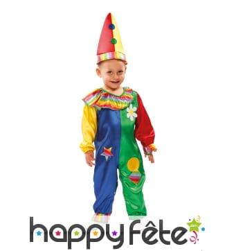 Costume de clown multicolore pour garçon