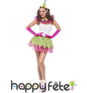 Costume de clown sexy en tutu pour femme
