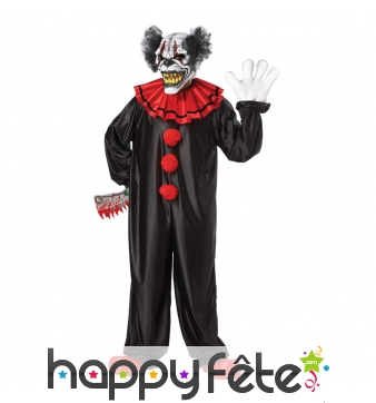 Costume de clown squelette tueur