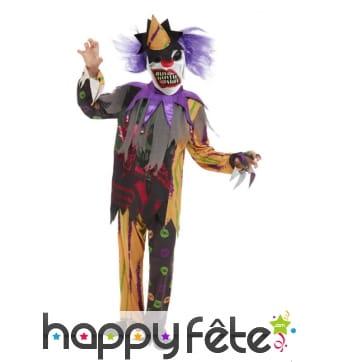 Costume de clown zombie pour enfant