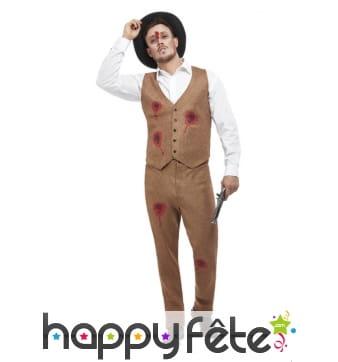 Costume de Clyde zombie pour homme