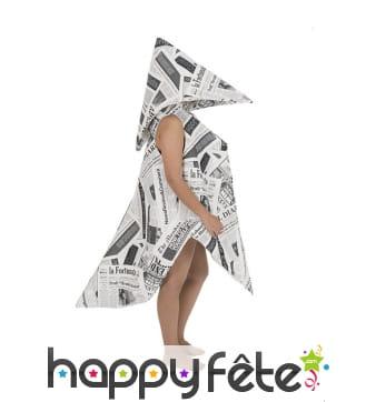 Costume de cocotte en papier adulte