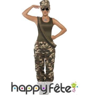 Costume de commando femme