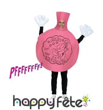 Costume de coussin péteur rose pour adulte