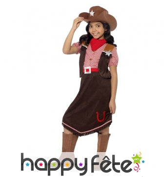 Costume de cow girl luxe pour enfant