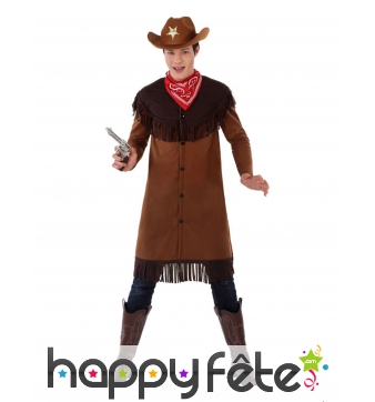 Costume de cowboy pour ado, marron