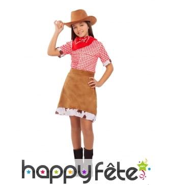 Costume de cowgirl du Farwest pour enfant