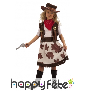 Costume de cowgirl vachette pour fillette