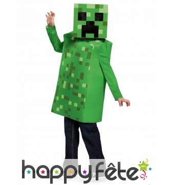 Costume de Creeper pour enfant, Minecraft