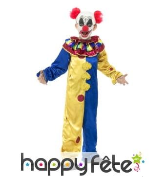 Costume du Clown pour enfant, chair de poule