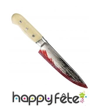 Couteau de cuisine ensanglanté, 33cm