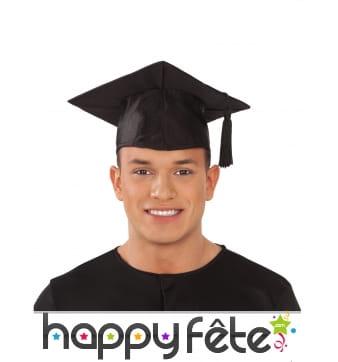 Chapeau de diplômé pour adulte
