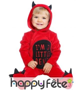 Combinaison de diable I'm a little devil pour bébé