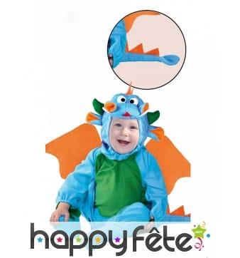 Combinaison de dragon bleu pour bébé